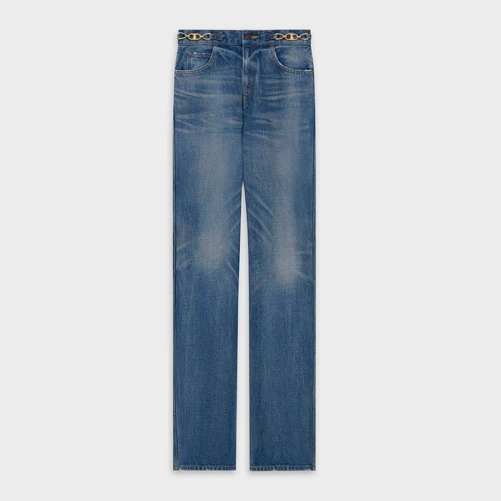 Celine's high-waisted flared jeans; $890, at celine.com.