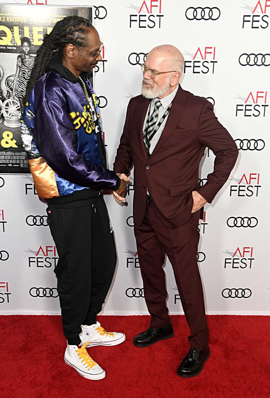 Snoop Dogg and AFI Festivals Director Michael Lumpkin