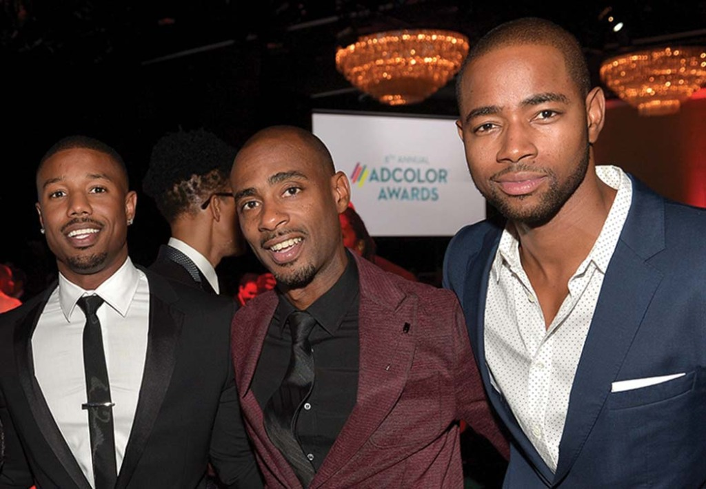 Michael B. Jordan, Charles King and Jay Ellis in 2014.