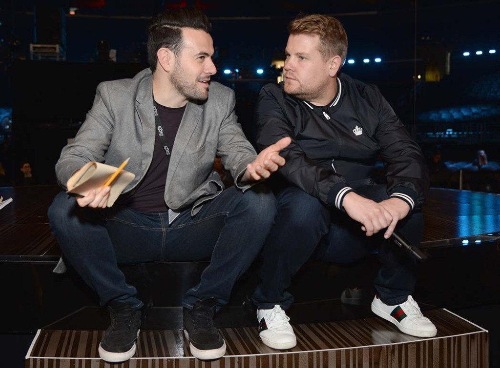"""""""People feel comfortable with him as an interviewer,"""" Ben Winston (left) says of LateLate colleague James Corden."""