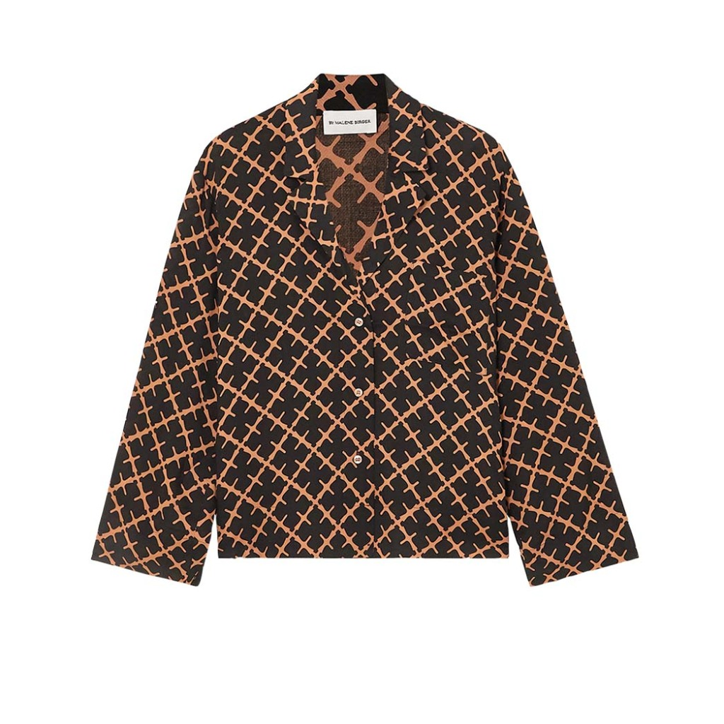 """Malene Birger's silk top will pop on Zoom """"but could also go into the office under a blazer,"""" says stylist Cat Pope; $350, net-a-porter.com"""