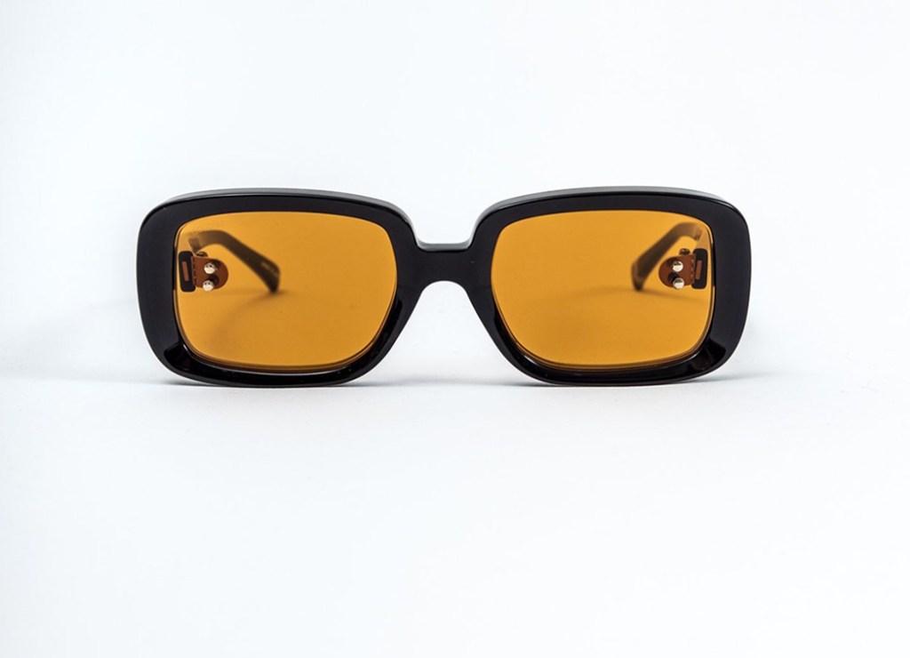 Doublet's Orange Square Flame Sunglasses