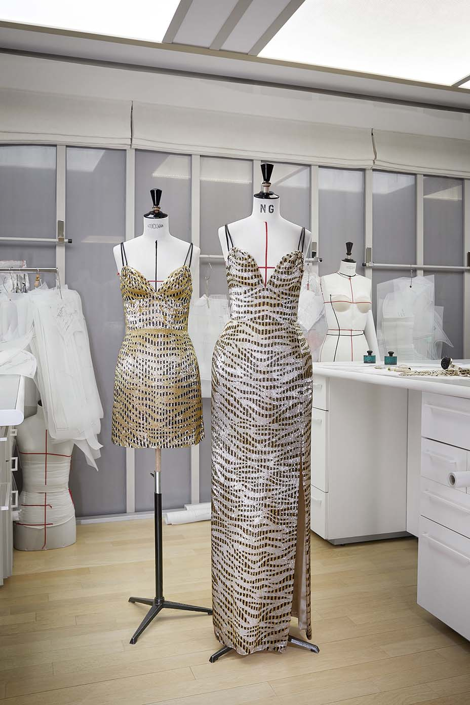 Louis Vuitton's Grammy outfits for Chloe x Halle at the house's Paris atelier