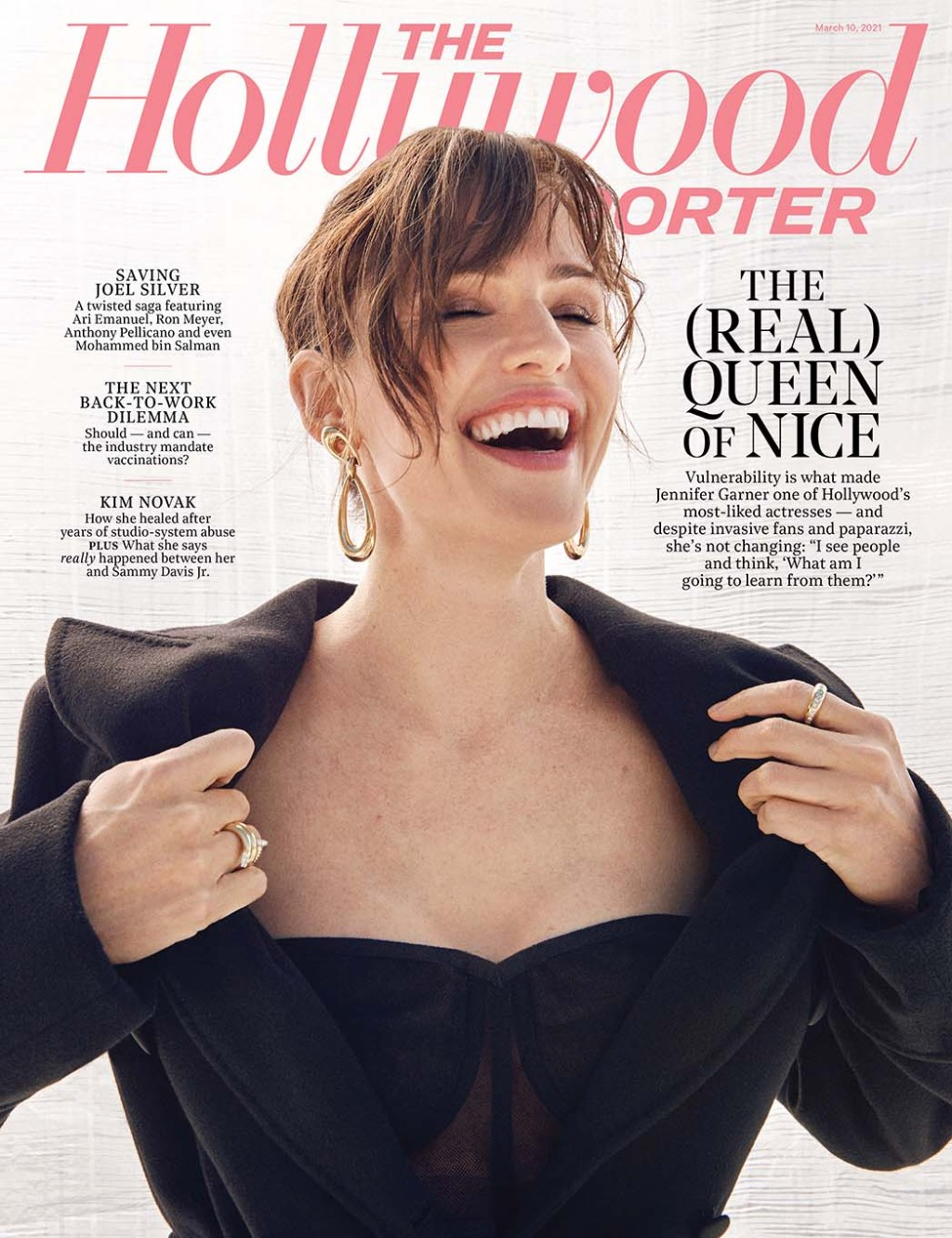 The Hollywood Reporter Issue 10 Cover Jennifer Garner Photographed by Mary Rozzi