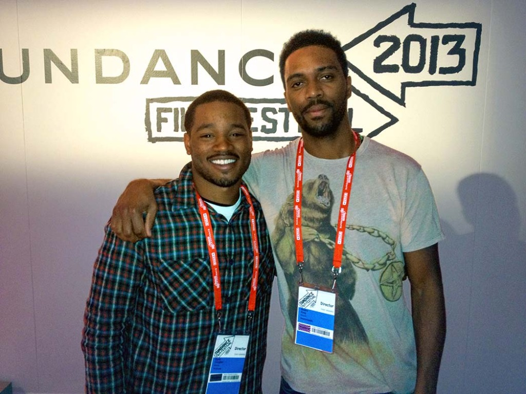 Coogler and Shaka King when they met at Sundance in 2013.