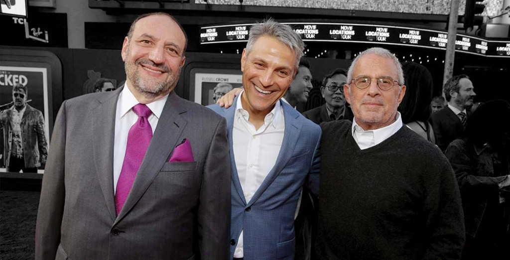 From left: Producer Joel Silver with Endeavor head Ari Emanuel and former NBCUniversal vicechairman Ron Meyer in 2016.