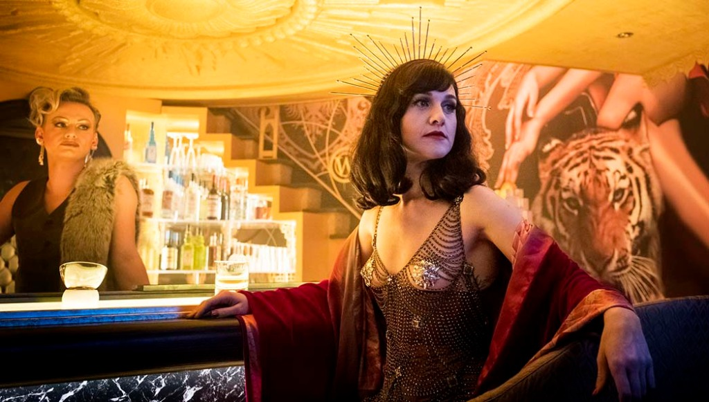 Lena Hall (right) as Miss Audrey in Snowpiercer.
