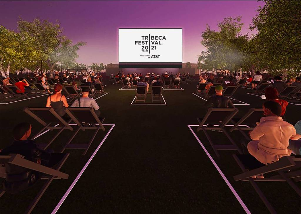 An artist's rendering of the Tribeca Festival Battery set-up