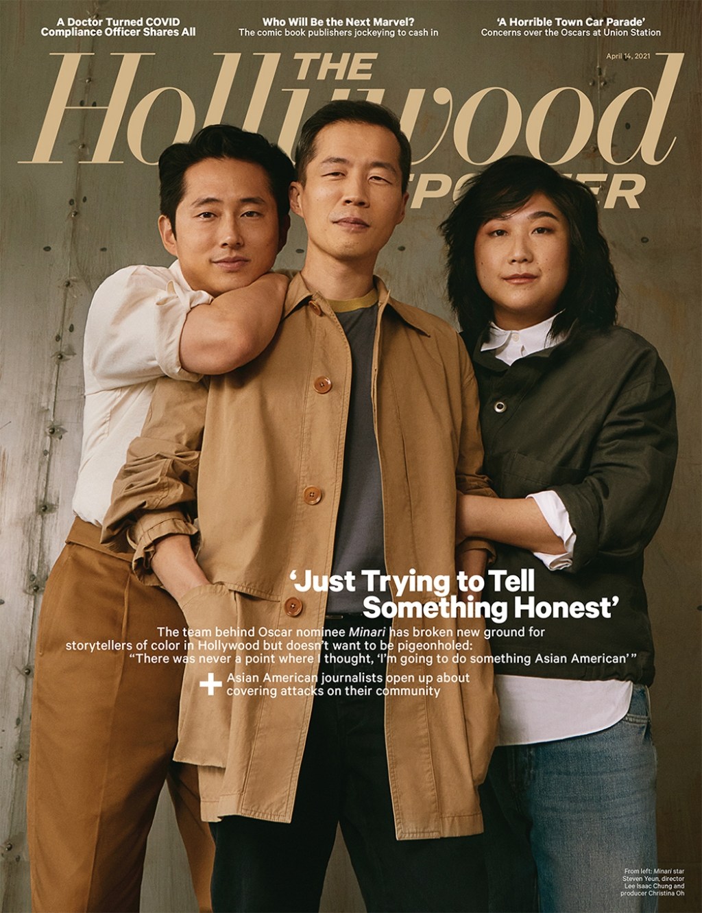 The Hollywood Reporter Issue 14 - Steven Yeun, Isaac Chung, and Christina Oh Photographed by Raul Romo