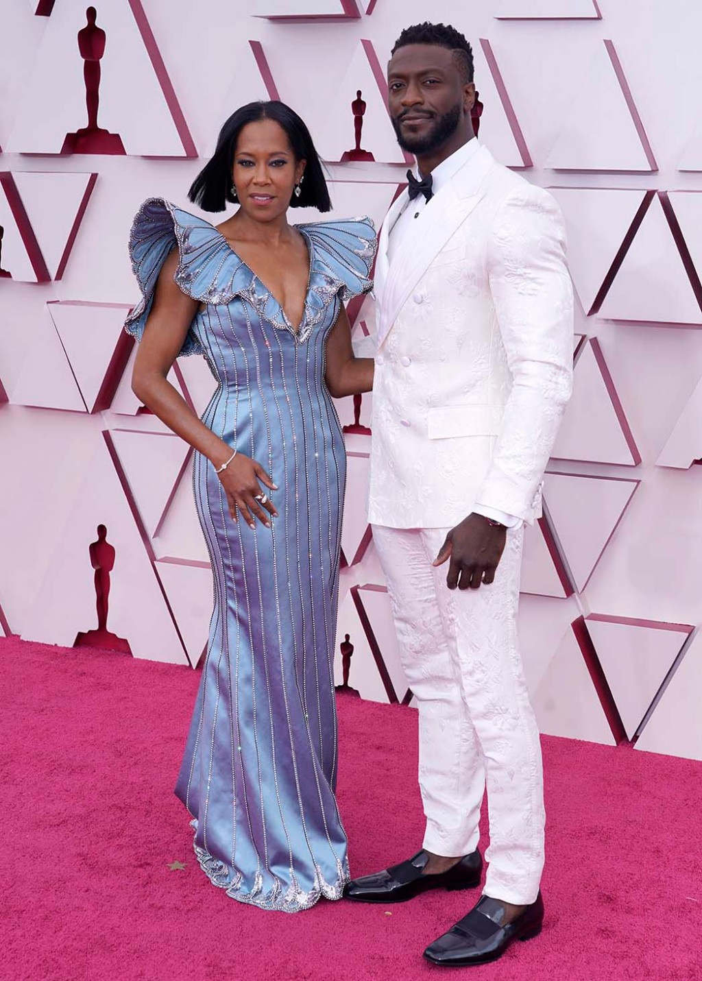 Regina King, left, and Aldis Hodge