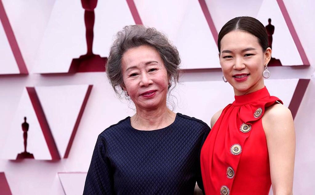 Youn Yuh-jung, left, and Han Ye-ri