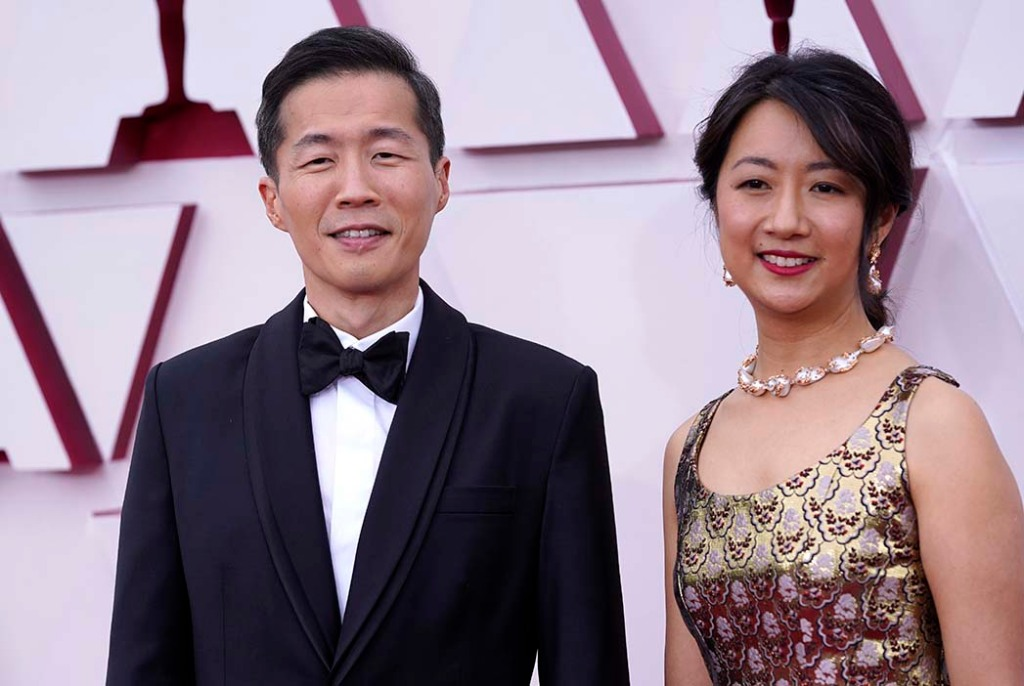 Lee Isaac Chung, left, and Valerie Chung