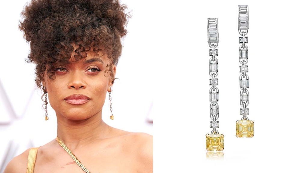 Jewelry at the Oscars Andra Day