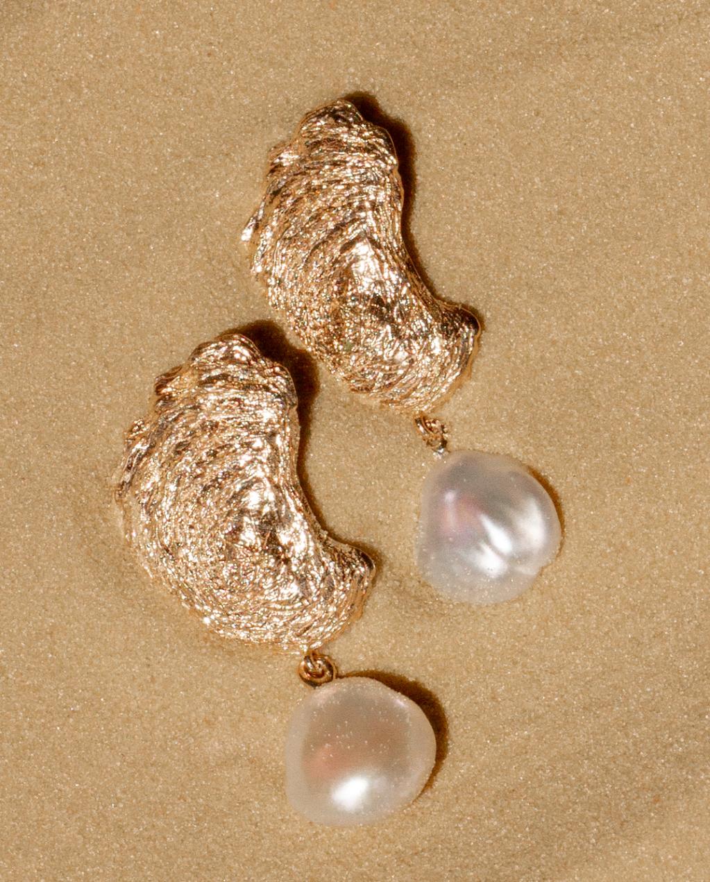 Aurate - Pearl Gold Earrings