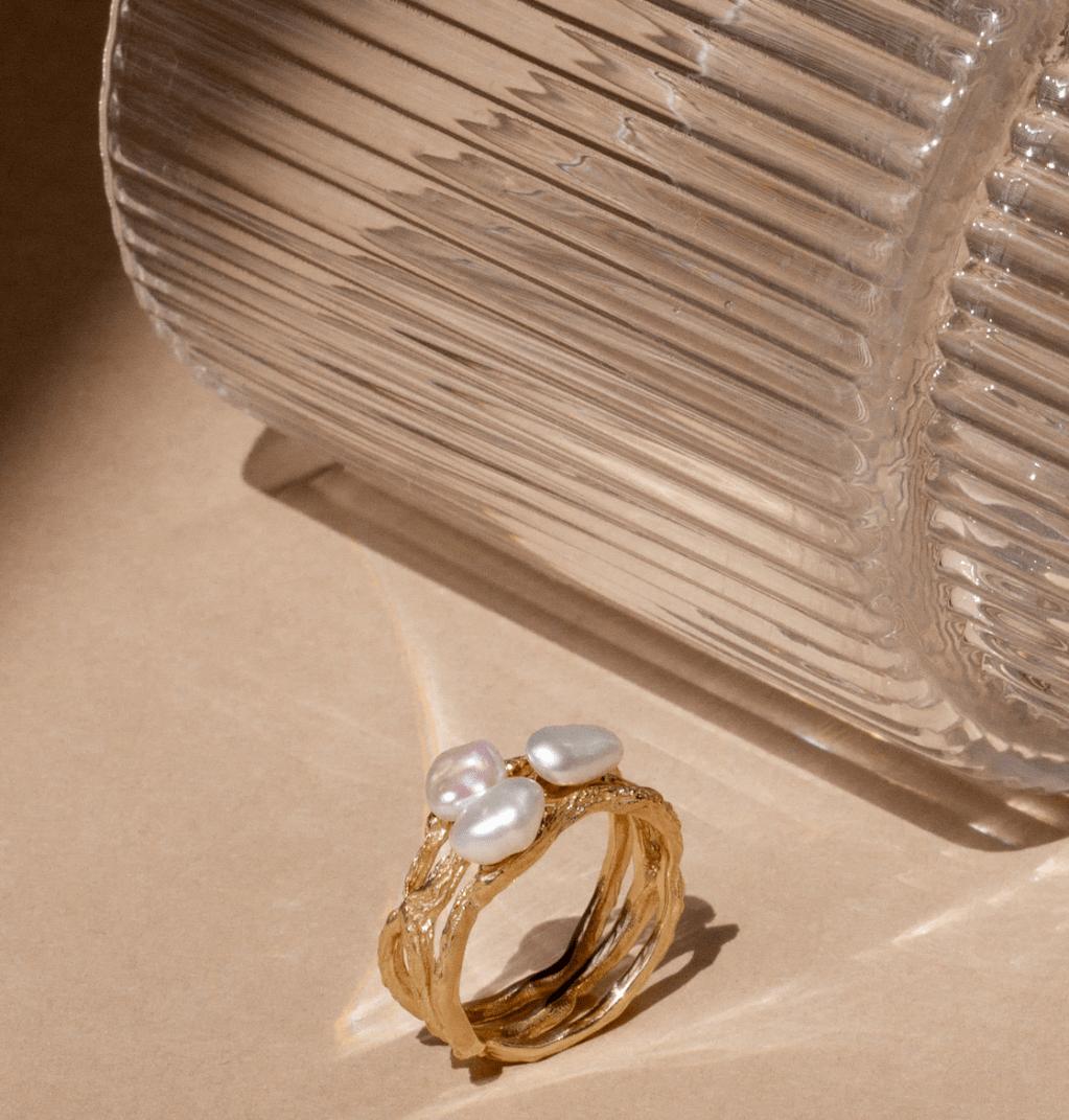 Aurate - Tri Gold Ring