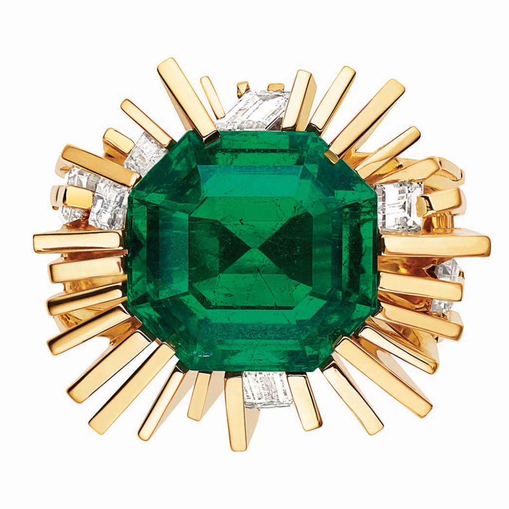 Chaumet: The Skyline ring features a 7.29-carat Colombian emerald. Gal Gadot has worn Chaumet; price upon request, chaumet.com.