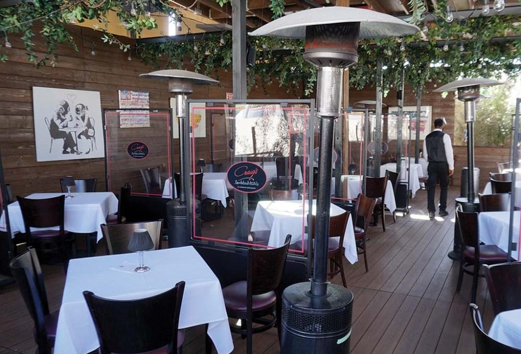 The patios at Craig's