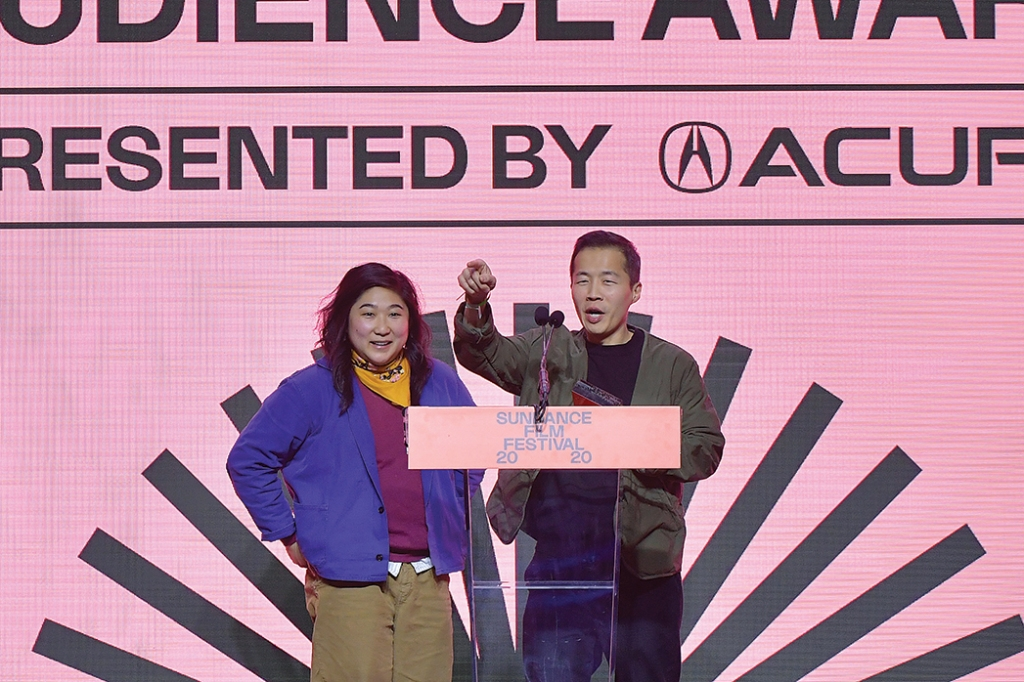 Producer Oh and Chung at the Sundance Film Festival Awards Night Ceremony
