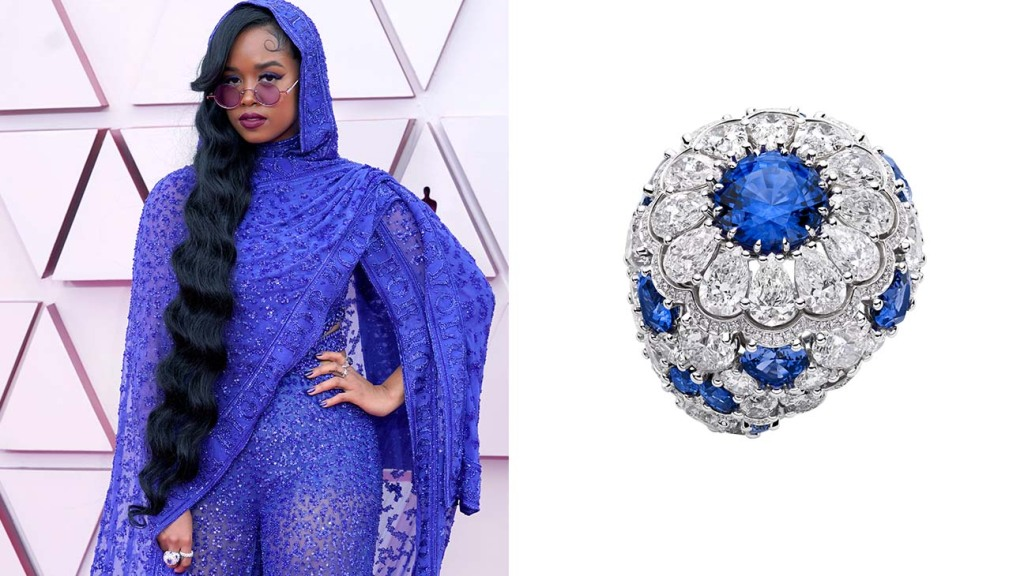 Jewelry at the Oscars H.E.R