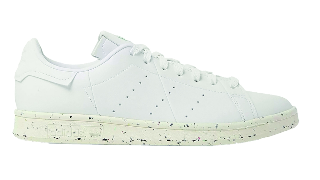 Adidas Originals - Stan Smith recycled leather sneakers with perforated side stripes; $100, mrporter.com