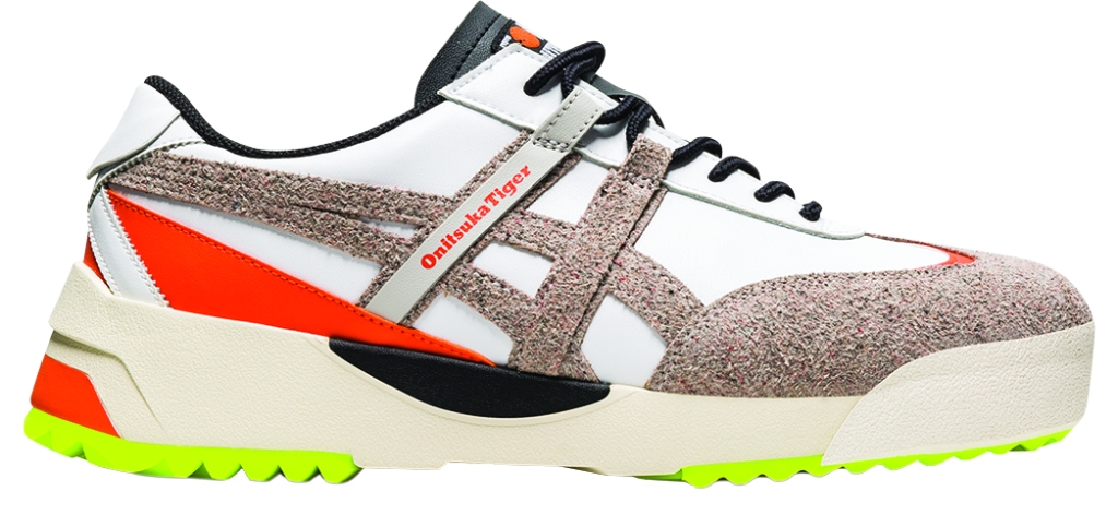 Onitsuka Tiger - Delegation Ex sneaker with recycled leather upper and repurposed PET laces. WillowSmith has been a brand ambassador; $140, at Onitsuka Tiger, Beverly Hills, and onitsukatiger.com