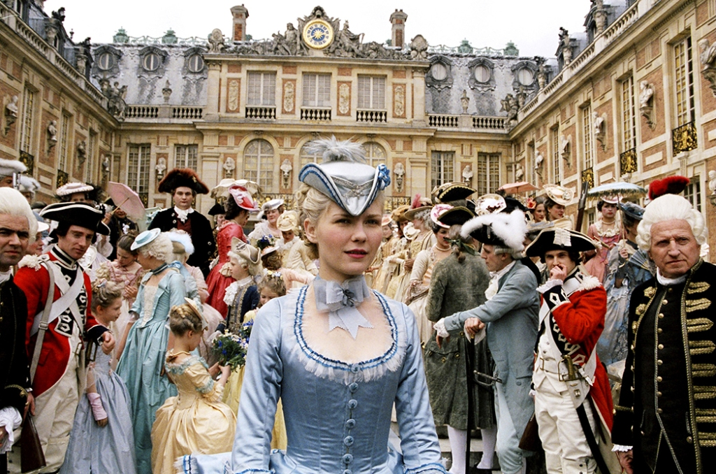 Kirsten Dunst in the film Marie Antoinette