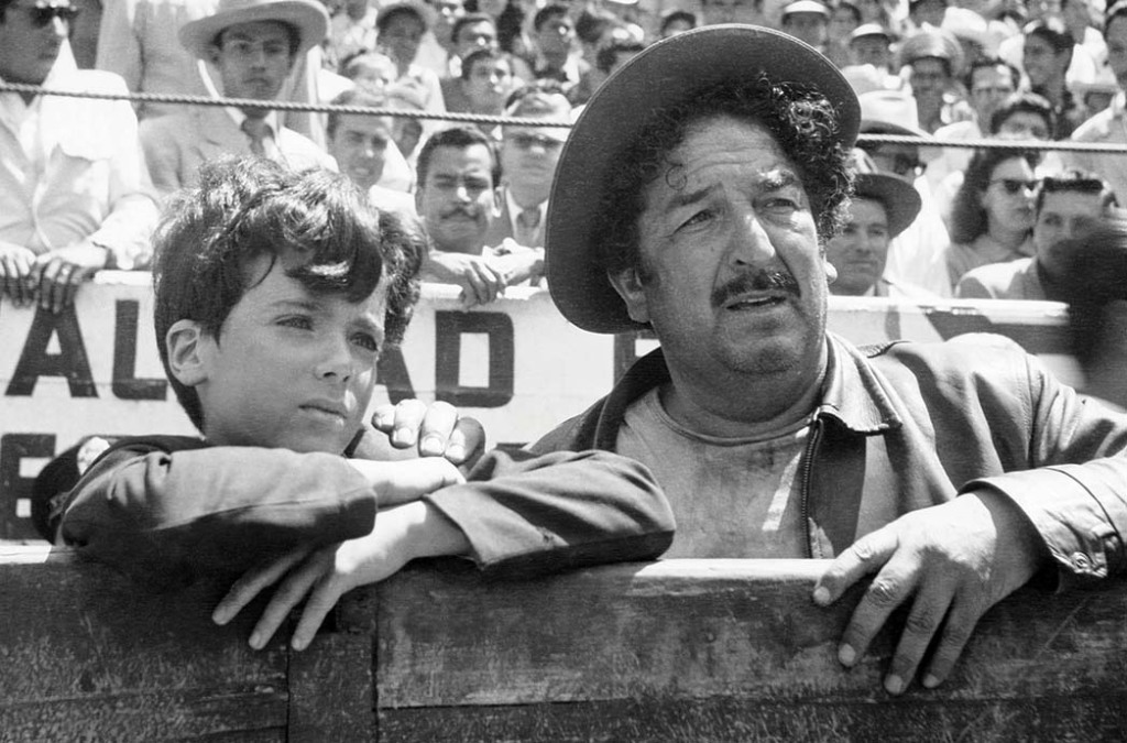A scene from the 1956 bullfighting saga.