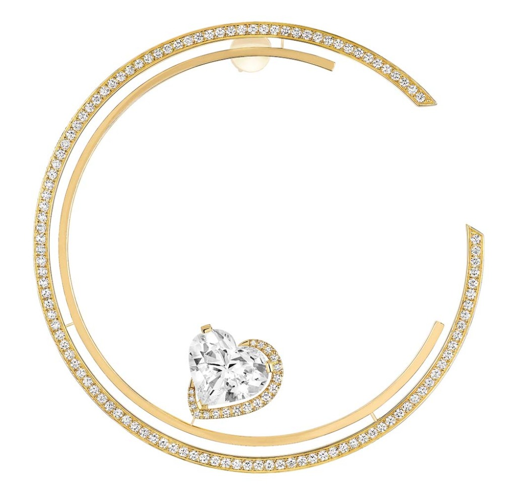Messika Paris: The Heart Shaped Single Hoop earring features a 5.08-carat diamond; price upon request, at Messika Century City.