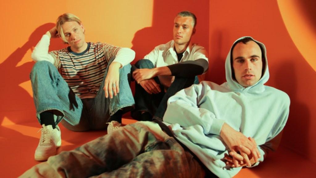 Emil Goll, Alexander Malone and Joachim Dencker of the Danish band Scarlet Pleasure.