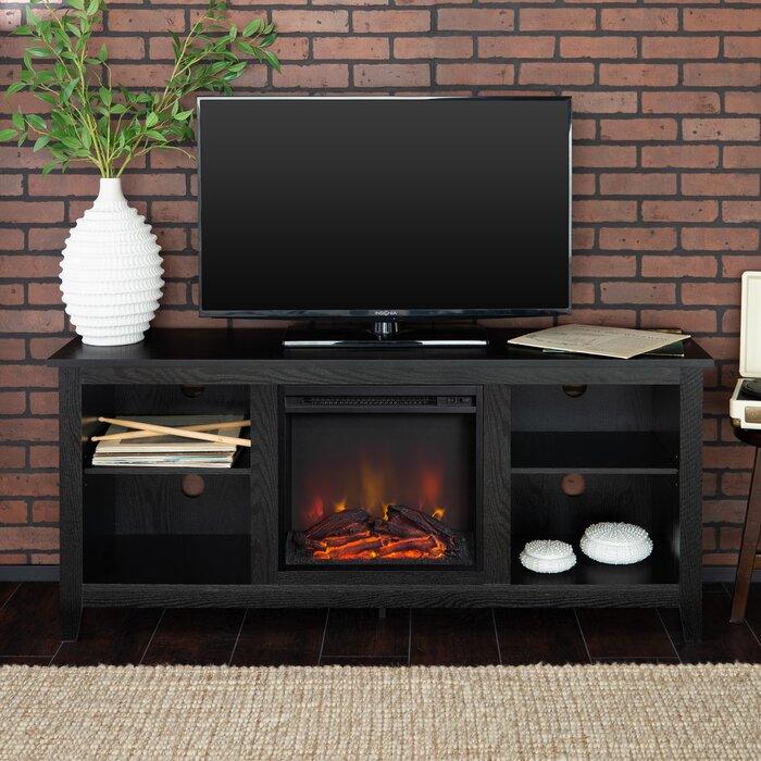 Beachcrest Home Meuble télé Sunbury avec cheminée