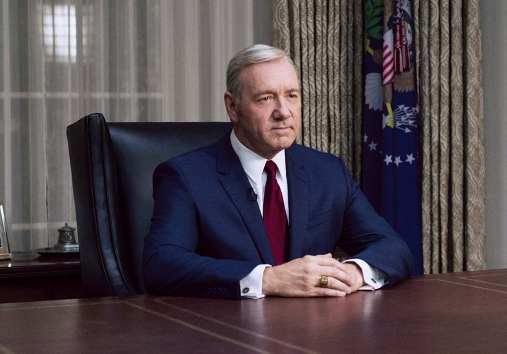 Kevin Spacey as Frank Underwood on 'House of Cards'