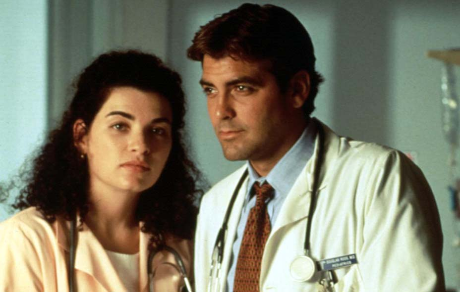 Julianna Margulies and George Clooney on ER