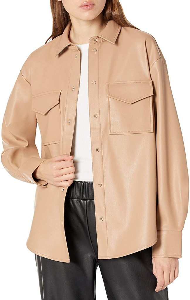 The Drop Faux Leather Jacket