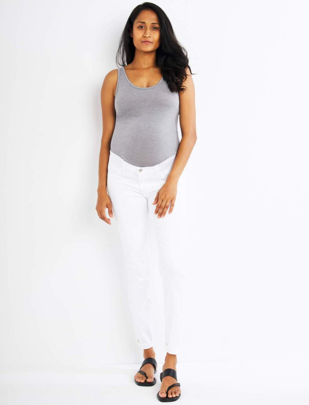 J Brand Skinny Leg Maternity Jeans with Side Panel