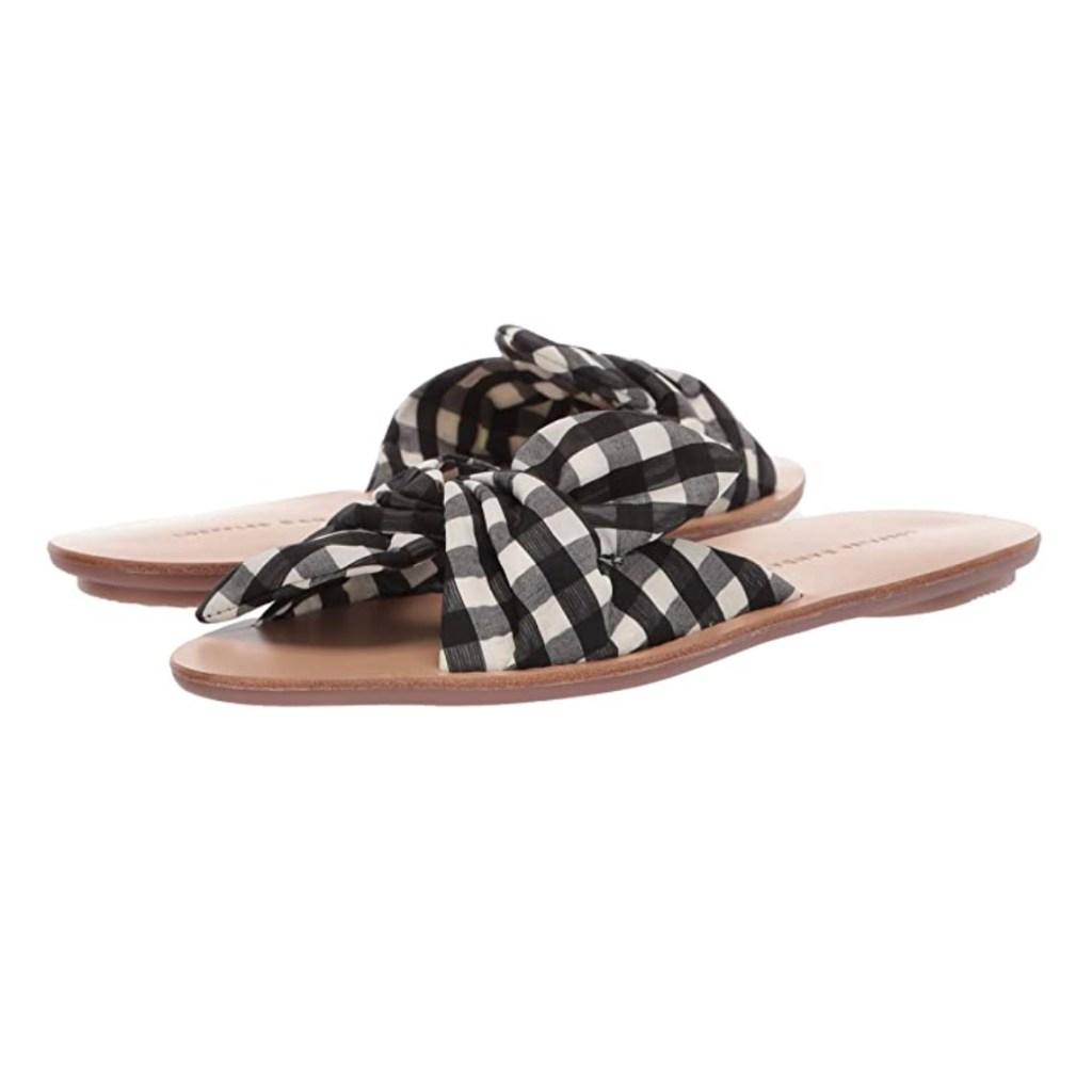 Loeffler Randall Phoebe Gingham Sandals