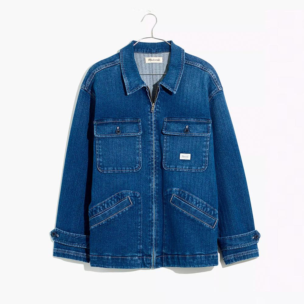 Madewell Workwear Collection Herringbone Denim Chore Coat