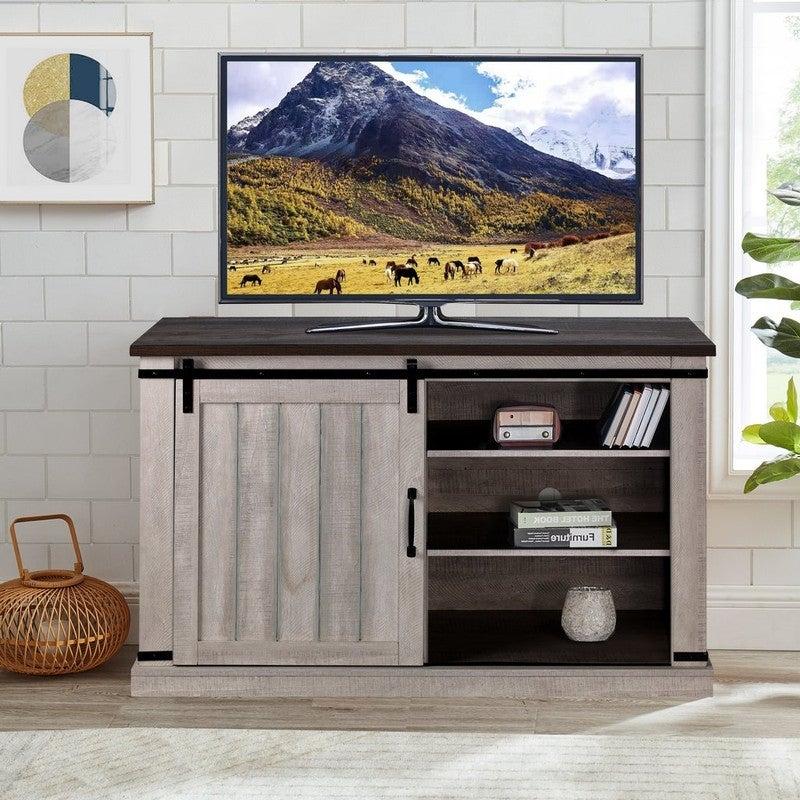 Meuble télé de 42 pouces pour porte de grange Overstock