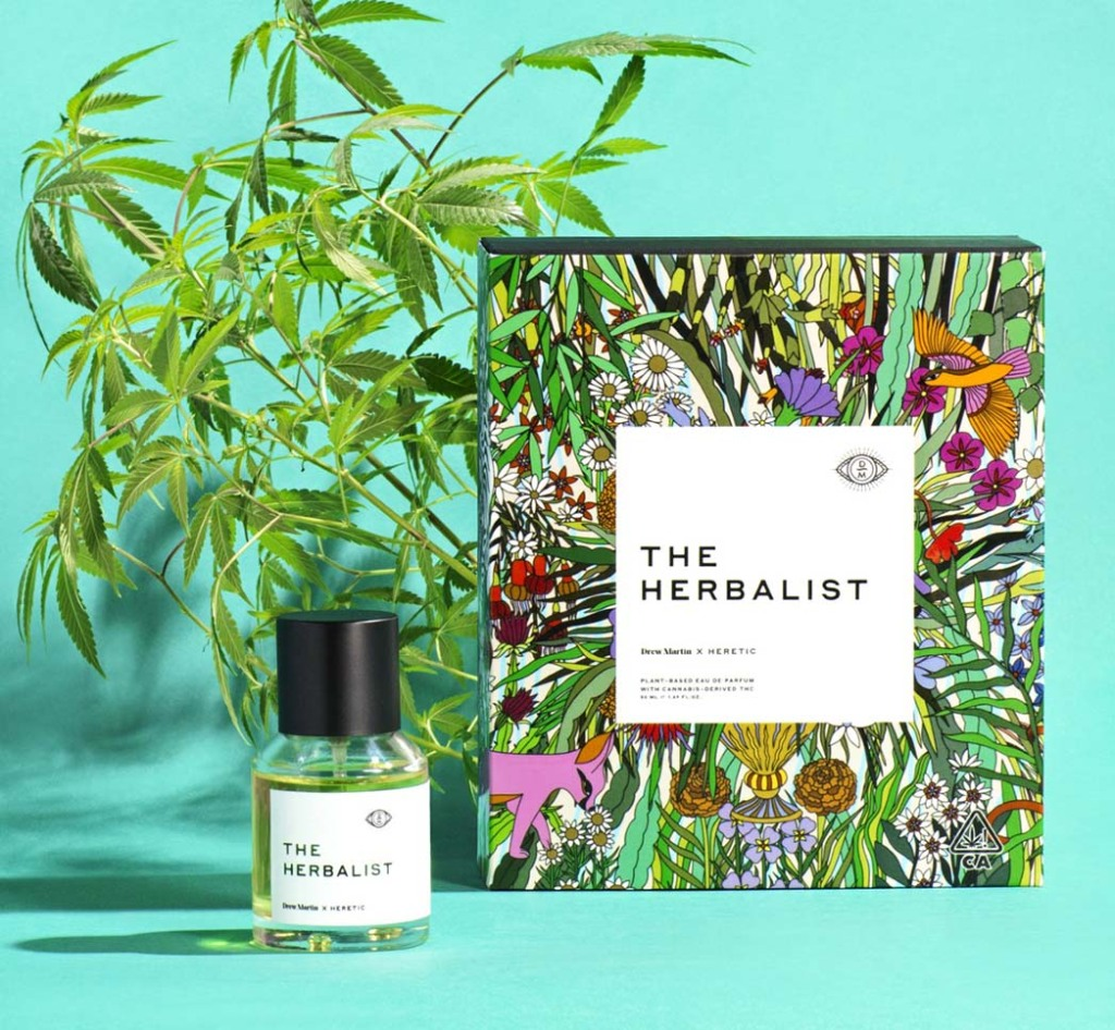 The Herbalist's Drew Martin x Heretic THC-infused fragrance