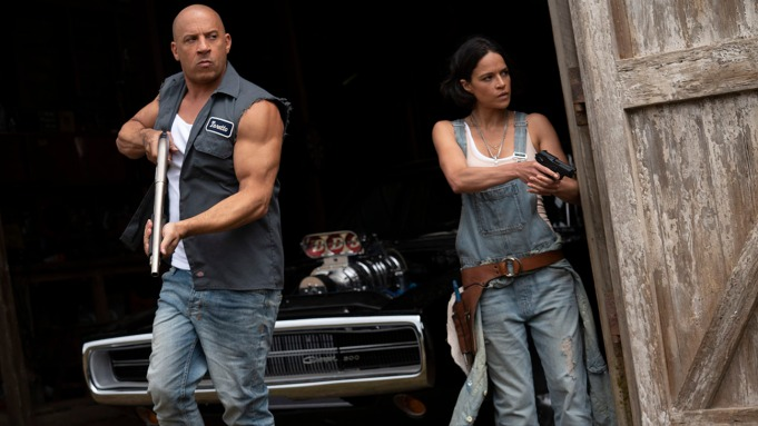 Dom (Vin Diesel) and Letty (Michelle