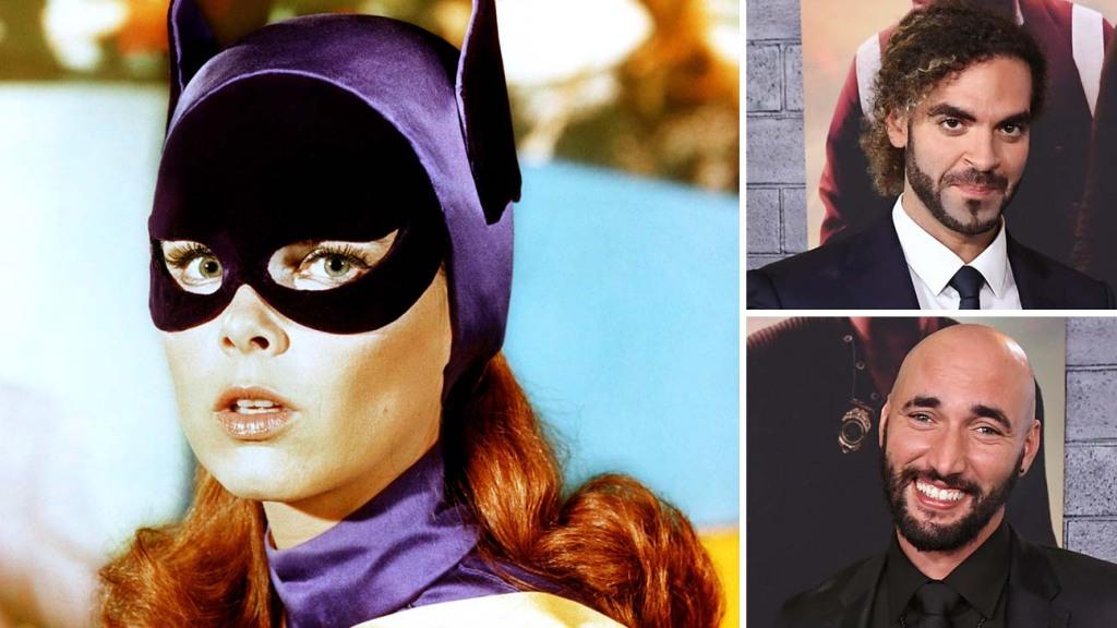Batgirl and inset of filmmakers Adil El Arbi and Bilall Fallah