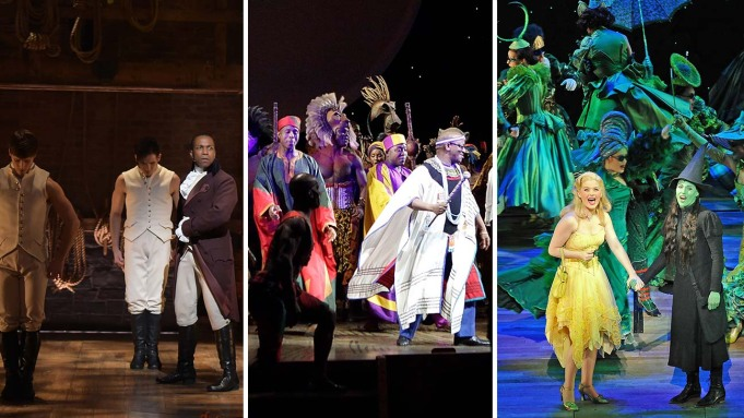 Hamilton, Lion King and Wicked