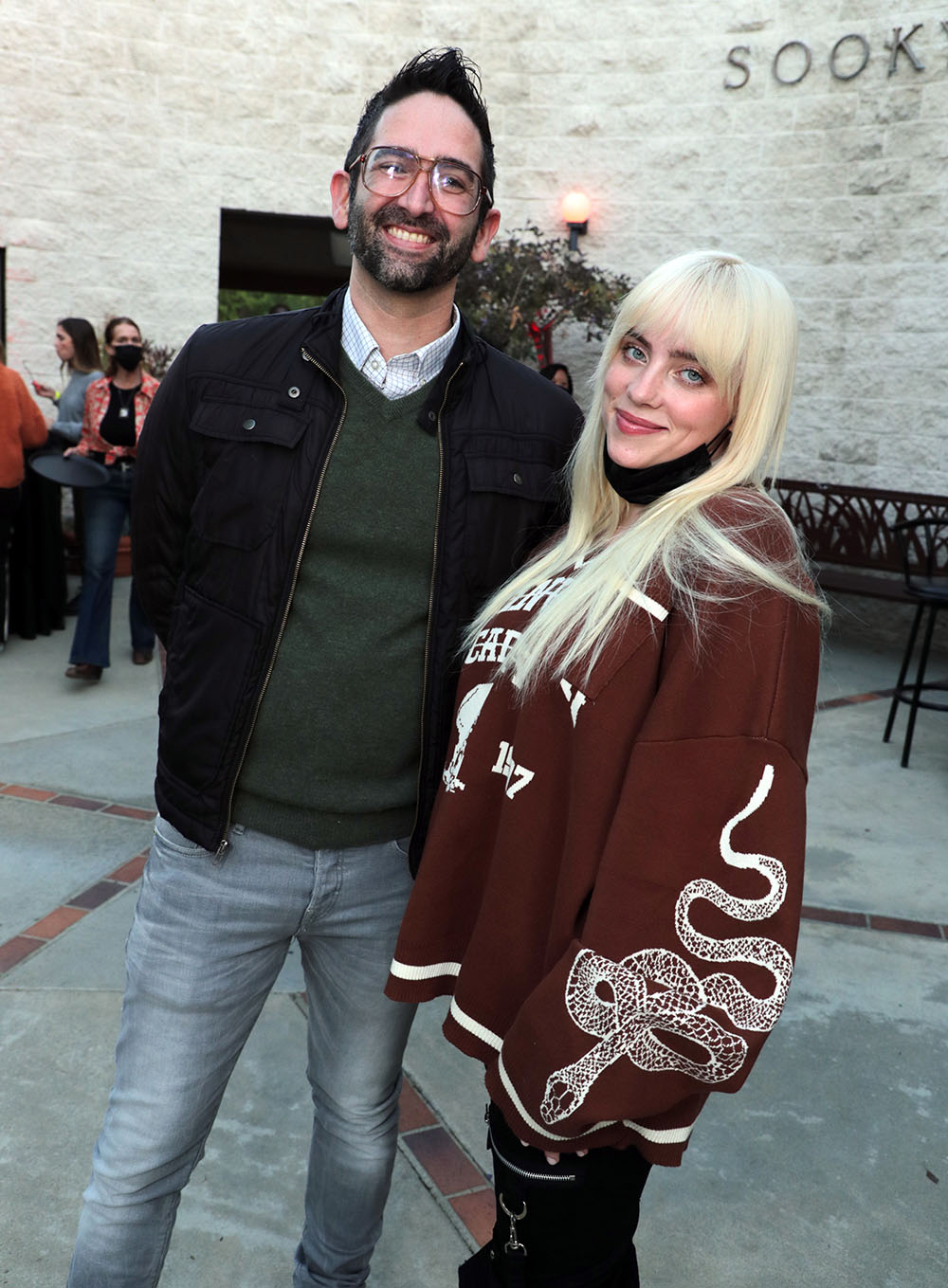 Director Michael Chaves and Billie Eilish