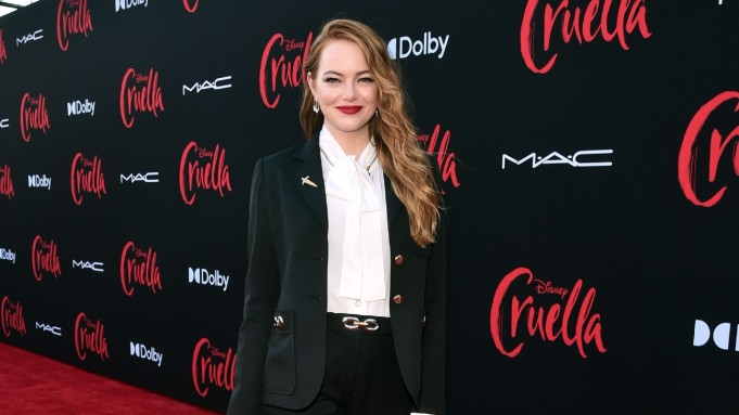Emma Stone at the 'Cruella' premiere.