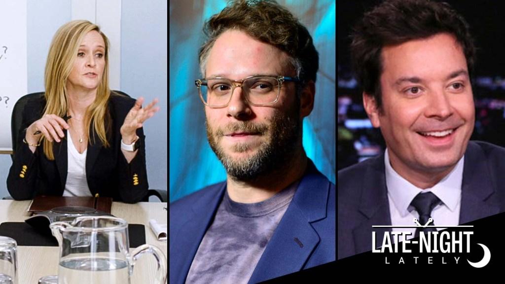 Late Night Lately: Samantha Bee's Gun Special, Behind Seth Rogen's <b>Twitter</b> Battle thumbnail