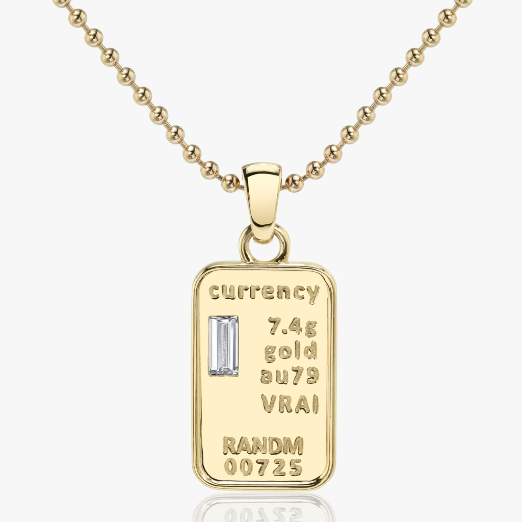 Vrai - Currency Necklace - Yellow Gold - Jewelry