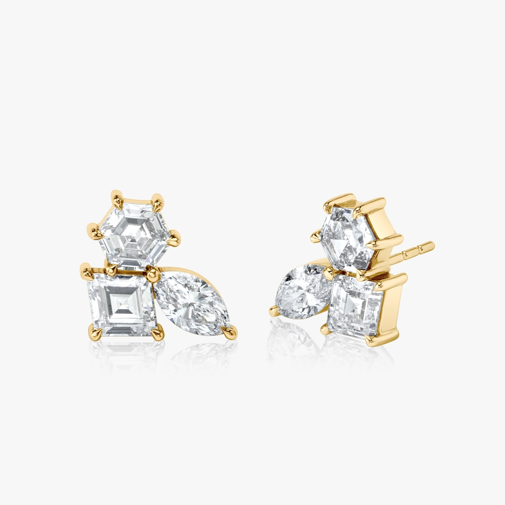 Vrai - Illuminate Studs - Yellow Gold - Jewelry