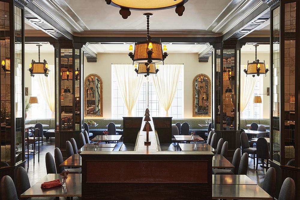 Dining room at the Barish
