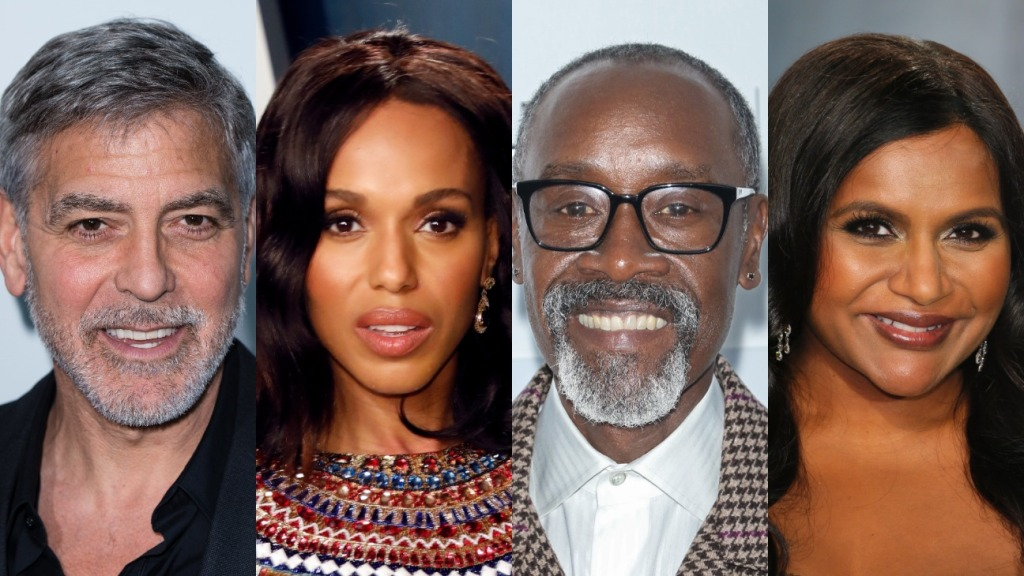 George Clooney, Kerry Washington, Don Cheadle and Mindy Kaling
