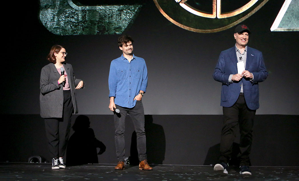 Director Kate Herron and Writer Michael Waldron of 'Loki' and President of Marvel Studios Kevin Feige took part today in the Disney+ Showcase at Disney's D23 EXPO 2019 in Anaheim, Calif.
