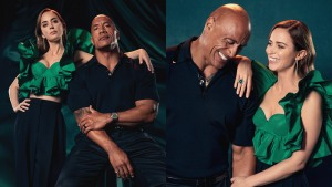 DwayneJohnson and EmilyBlunt Photographed by Chrisean Rose